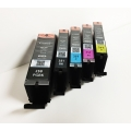 Canon OEM PGI-250 and CLI-251 BKCMY Ink Cartridges (6497B001, 6513B004) 5/PK